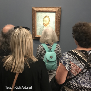The only selfie's I saw at the d'Orsay were the ones painted by Van Gogh himself!