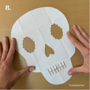 Easy Sugar Skull Kirigami Step 8