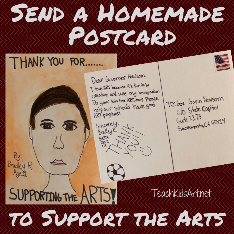 Send a Homemade Postcard to Support the Arts