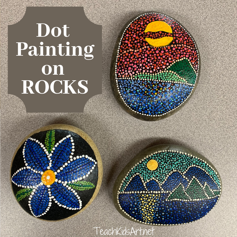 Dot Painting on Rocks